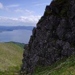 屏風岩とエゾノハクサンイチゲ