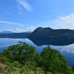 登山道より鏡の摩周湖